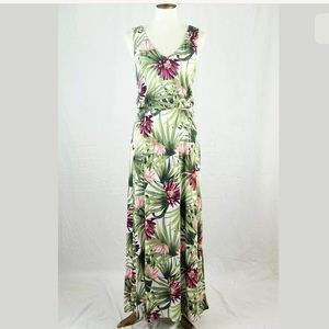 Tommy Bahama Floral Jersey Maxi Dress size M